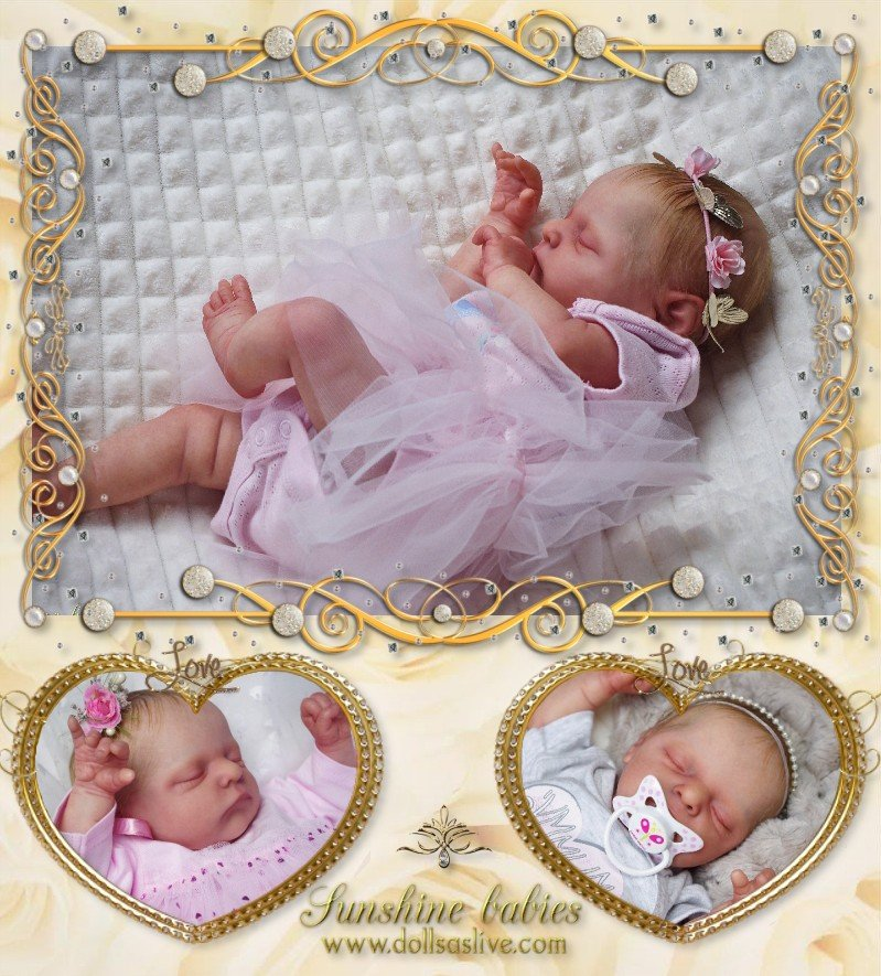 EMMELINE: Luxe - Cassie Brace: Dolls as Live Made with Love SUNSHINE BABIES
