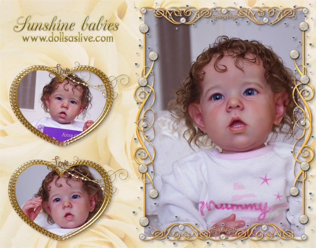 CHRISTINE: Liam - Bonnie Brown: Dolls as Live Made with Love SUNSHINE BABIES Reborn Dolls